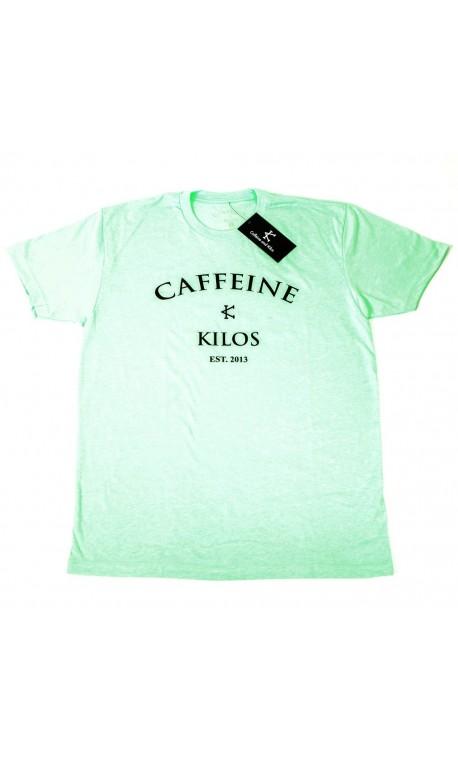 T-shirt Homme Vert menthe pour Athlète- CAFFEINE & KILOS