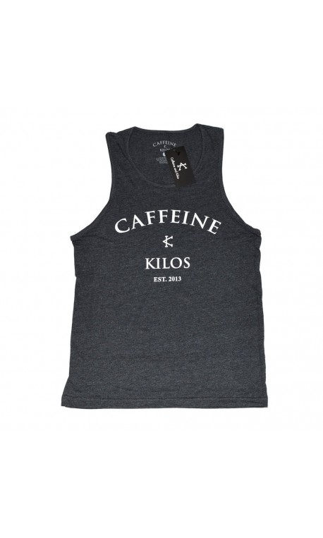 Débardeur large Homme Gris pour Athlète - CAFFEINE & KILOS