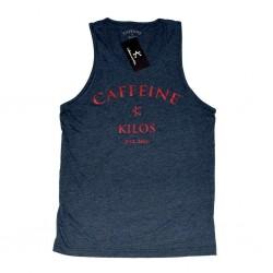 Débardeur large Homme Bleu navy pour CrossFiteur - CAFFEINE & KILOS