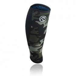 5 mm pair of shin Sleeves green camo - REHBAND