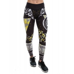 Legging Femme Multicolor triangle léopard pour CrossFiteuse by NORTHERN SPIRIT