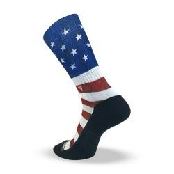 Chaussettes Multicolor USA pour Athlète by LITHE APPAREL