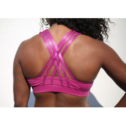 Brassière protège clavicule Wine Tiffany pour CrossFiteuse by CHESTEE
