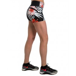 Short Femme Rouge Flowers pour CrossFiteuse by NORTHERN SPIRIT