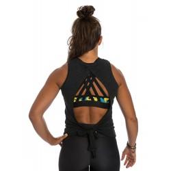 Débardeur ouvert femme noir Snatch pour CrossFiteuse by NORTHERN SPIRIT