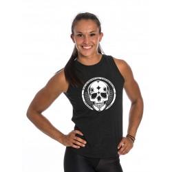 Débardeur ouvert femme noir Skull pour CrossFiteuse by NORTHERN SPIRIT
