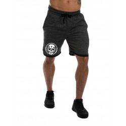 Training short grey SQUAT SKULL for men - NORTHERN SPIRIT