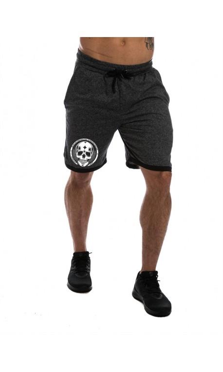 Short Homme Gris squat Skull pour CrossFiteur by NORTHERN SPIRIT