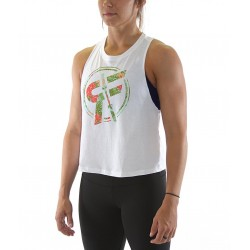 Training muscle tank white ENDLESS SUMMER for women - ROKFIT