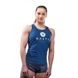 Débardeur Femme Bleu Racer Twisted Strap pour CrossFiteuse by NASTY