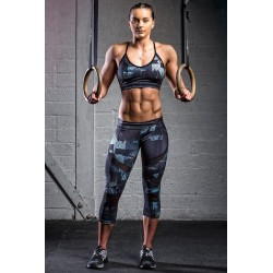 Legging mi long femme sport Noir