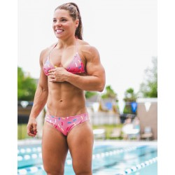 Training swimsuit pink DONUT for women - FEED ME FIGHT ME