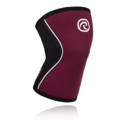 5 mm pair of Knee Sleeves Burgundy - REHBAND
