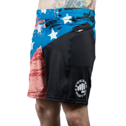 Training short multicolor BECAUSE OF THE BRAVE for men - FEED ME FIGHT ME
