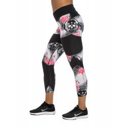 NORTHERN SPIRIT Legging mi-long femme FLAMINGO