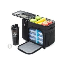 Boîte 6 repas  noire meal prep bag  pour athlète by XOOM