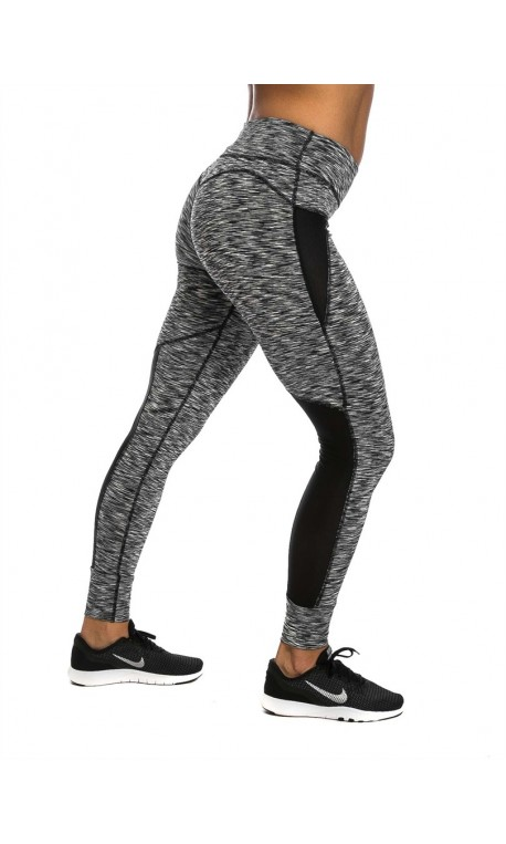 Legging femme gris chiné ajouré NORTHERN SPIRIT