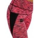Legging entraînement rose chiné femme modèle ajouré