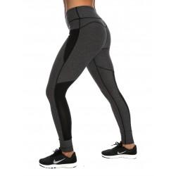 Legging femme gris chiné ajouré classic pour athlète by NORTHERN SPIRIT