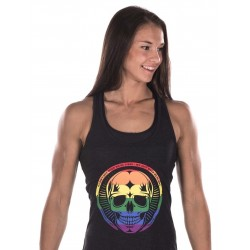 Débardeur Femme Noir Pride Skull pour CrossFiteuse - NORTHERN SPIRIT