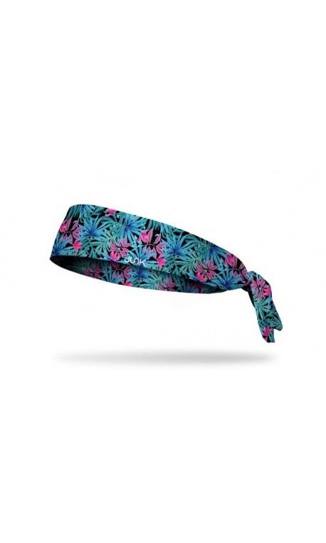 Bandeau à nouer DUSKLIGHT  Multicolore motif feuilles  pour athlète by JUNK