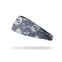 Grey workout elastic headband MUERTOS - JUNK