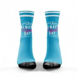 Chaussettes Bleu Squat Day V2 pour Athlète - WODABLE