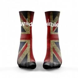 Chaussettes Multicolor English Flag V2 pour Athlète - WODABLE