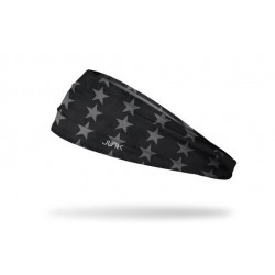 Black workout elastic headband SPACE RACE - JUNK