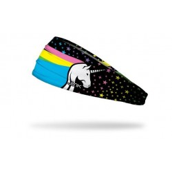 Multicolor workout elastic headband COSMIC UNICORN - JUNK