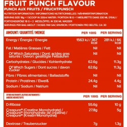 Créatine gout FRUIT PUNCH - 540 Gr CREATINE PERFORMANCE  pour athlète by ICON