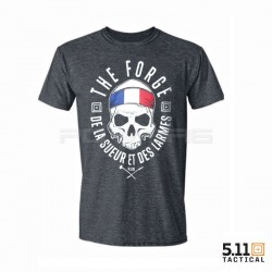 T-shirt homme charcoal The Forge France pour athlète by 5.11