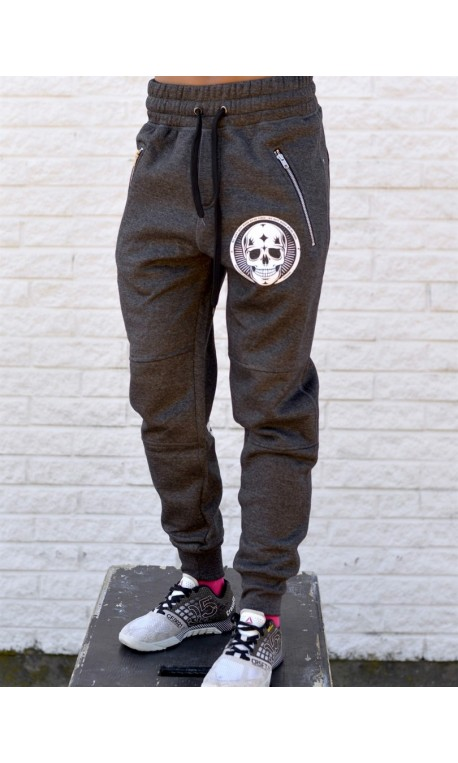 Boutique Jogging sport Femme Crossfit - Gris Pants Skull