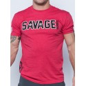 Tee-Shirt homme rouge HIP STAR SAVAGE BARBELL