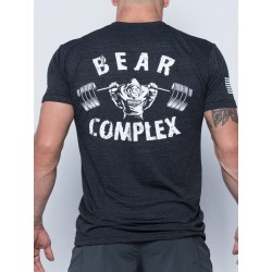 T-shirt grey Bear Complex for men - SAVAGE BARBELL
