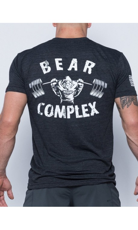 Tee-Shirt homme gris BEAR COMPLEX  pour athlète by SAVAGE BARBELL