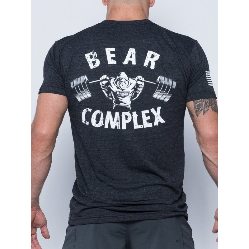 73eb00c1 Tee-Shirt homme gris BEAR COMPLEX pour athlète by SAVAGE BARBELL ...