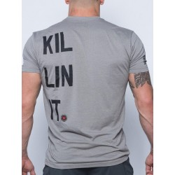 Tee-Shirt homme gris KILLIN'IT pour athlète by SAVAGE BARBELL