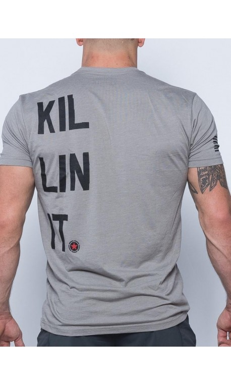 9b46a730 Tee-Shirt homme gris KILLIN'IT pour athlète by SAVAGE BARBELL