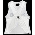 SAVAGE BARBELL Débardeur large entraînement femme blanc STORMY WHITE