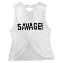 Training cross tank white STORMY for women - SAVAGE BARBELL