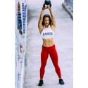 Legging femme rouge RED 2.0  pour athlète by SAVAGE BARBELL