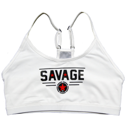 Brassière femme Blanc CLASSIC WHITE  pour athlète by SAVAGE BARBELL