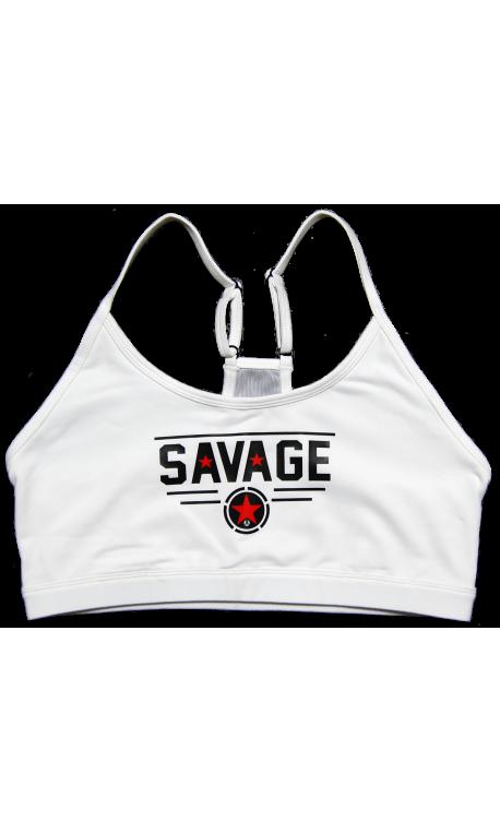 Brassière entraînement femme SAVAGE BARBELL Blanc CLASSIC WHITE 537005a40ec
