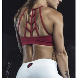 Training bra red SCARLET for women - SAVAGE BARBELL