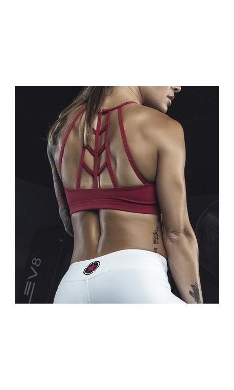 Brassière femme rose SCARLET WEB BACK  pour athlète by SAVAGE BARBELL