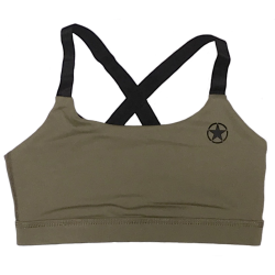 Training bra green ARMY for women - SAVAGE BARBELL