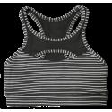 Brassière femme noir rayé blanc JAILHOUSE pour athlète by SAVAGE BARBELL