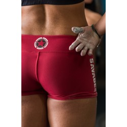 "Short femme rouge ""RED"" pour athlète by SAVAGE BARBELL"