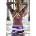 Short  femme multicolore FOXY BOOTY  pour athlète by SAVAGE BARBELL